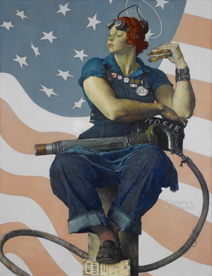 Роквелл Норман. Картина «Клепальщица Рози» из собрания Музея американского искусства «Хрустальные мосты»